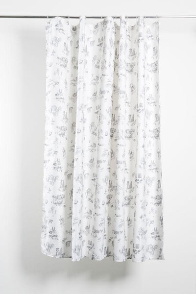 Cotton Shower Curtains - Toile De Suisse Artist Cotton Shower Curtain ( Waterproof ) By Celine Cornu