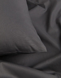 Egyptian Cotton Percale Duvet Covers - Anthracite / Dark Grey Percale Egyptian Cotton Duvet Covers / Pillows