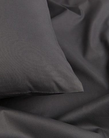 Anthracite / Dark Grey Percale Egyptian Cotton Duvet Covers / Pillows