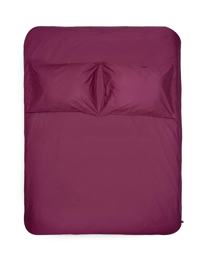 Aubergine Percale Egyptian Cotton Duvet Covers / Pillows Ägyptischer Baumwolle Bettwäsche