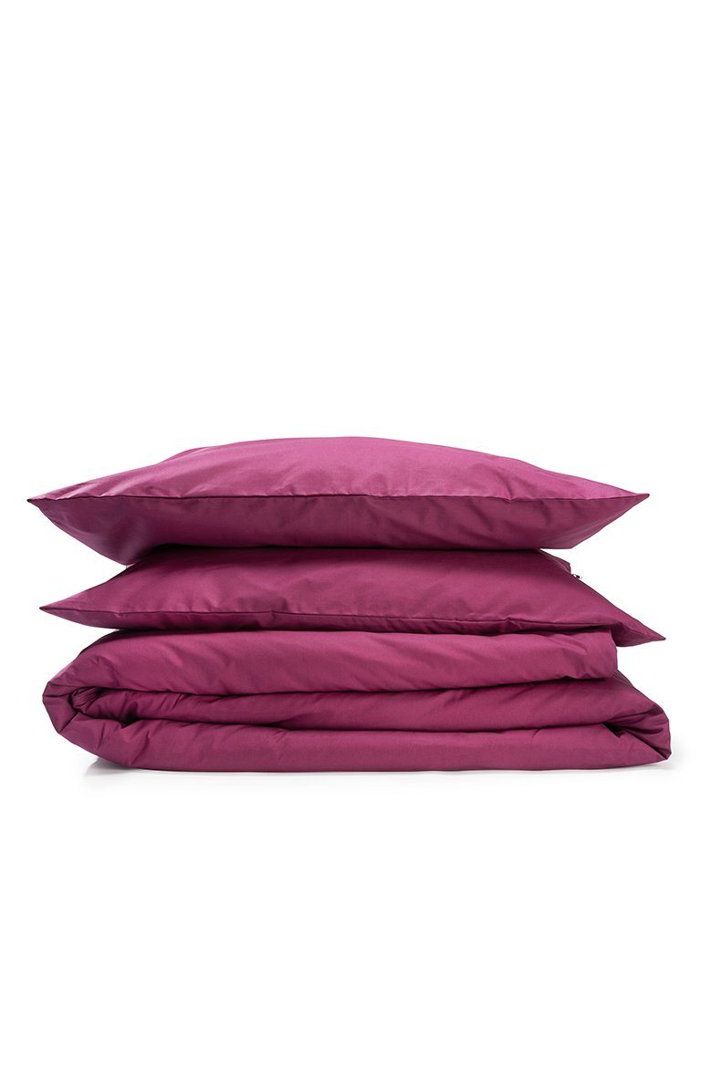 ] Aubergine Percale Egyptian Cotton Duvet Covers / Pillows Ägyptischer Baumwolle Bettwäsche