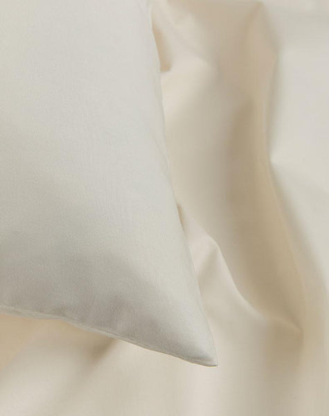Creamy White Percale Egyptian Cotton Duvet Covers / Pillows - ZigZagZurich  - 1