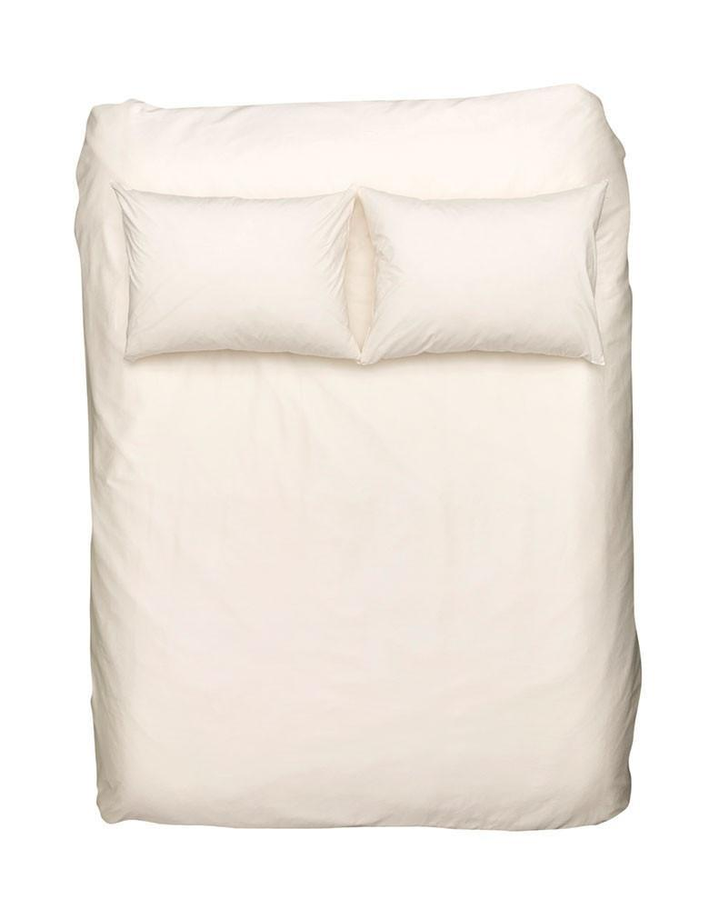 Egyptian Cotton Percale Duvet Covers - Creamy White Percale Egyptian Cotton Duvet Covers / Pillows