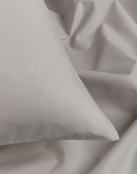 Grey Percale Egyptian Cotton Duvet Covers / Pillows - ZigZagZurich  - 1