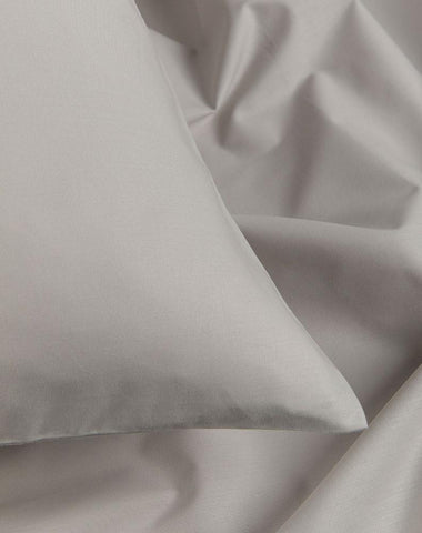 Grey Percale Egyptian Cotton Duvet Covers / Pillows