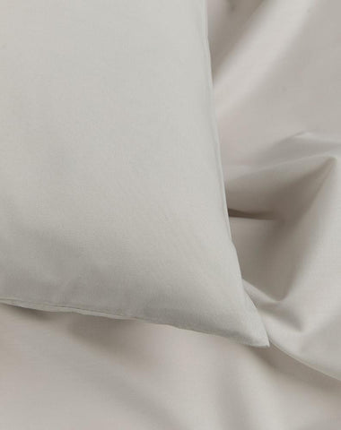 Light Grey Percale Egyptian Cotton Duvet Covers / Pillows
