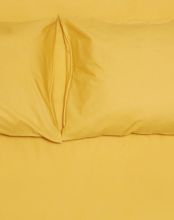 Ocher Percale Egyptian Cotton Duvet Covers / Pillows Ägyptischer Baumwolle Bettwäsche