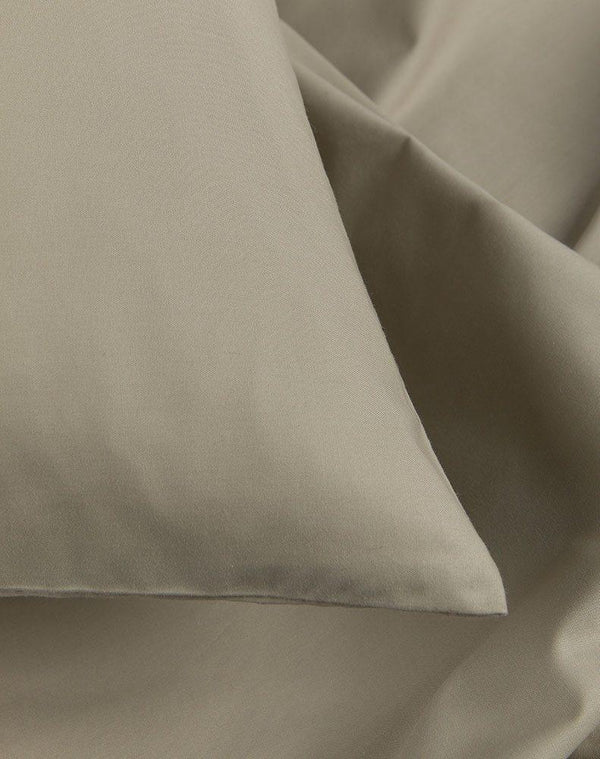 Egyptian Cotton Percale Duvet Covers - Sage Percale Egyptian Cotton Duvet Covers / Pillows