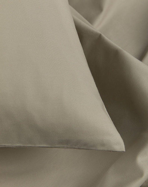 Sage Percale Egyptian Cotton Duvet Covers / Pillows - ZigZagZurich  - 1