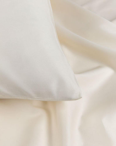 Cream Egyptian Cotton Sateen Duvet Covers / Pillows