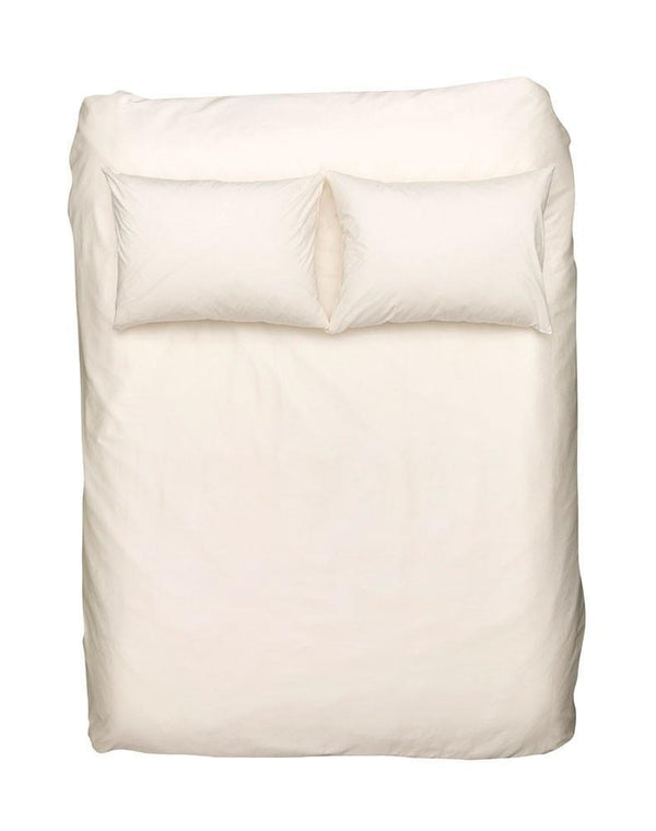 Egyptian Cotton Sateen Duvet Covers - Cream Egyptian Cotton Sateen Duvet Covers / Pillows