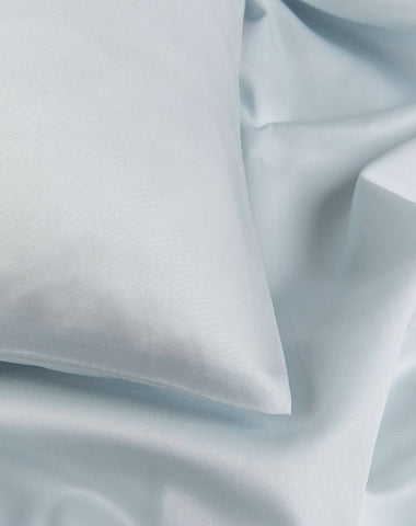 Light Blue Egyptian Cotton Sateen Duvet Covers / Pillows