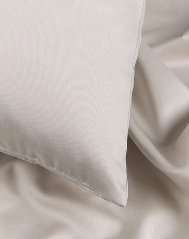 Light Grey Egyptian Cotton Sateen Duvet Covers / Pillows