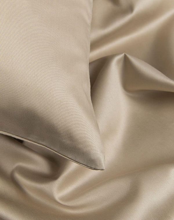 Egyptian Cotton Sateen Duvet Covers - Sand Egyptian Cotton Sateen Duvet Covers / Pillows