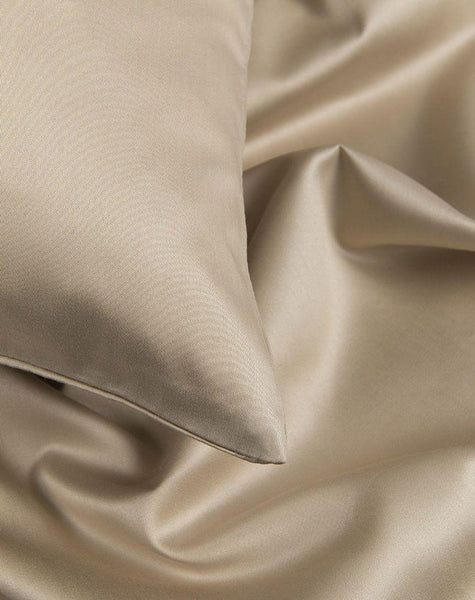 Sand Egyptian Cotton Sateen Duvet Covers / Pillows - ZigZagZurich  - 1