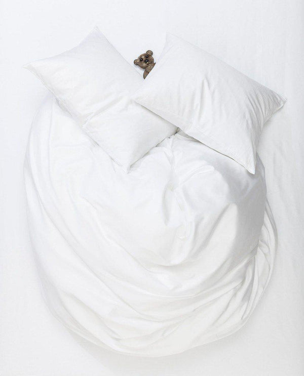 Egyptian Cotton Sateen Duvet Covers - White Egyptian Cotton Sateen Duvet Covers / Pillows - Puglia