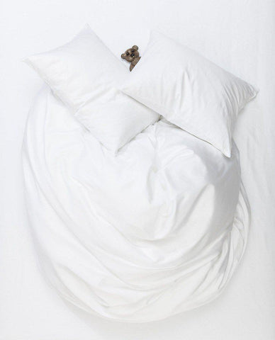 White Egyptian Cotton Sateen Duvet Covers / Pillows - Puglia