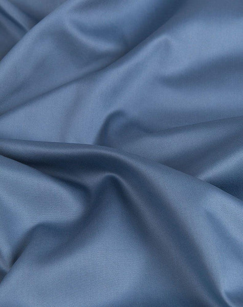 Blue Egyptian Cotton Sateen Fitted Sheet - ZigZagZurich