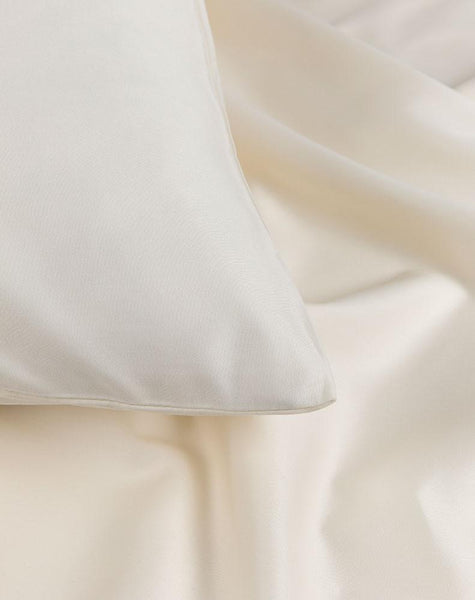 Egyptian Cotton Sateen Fitted Sheets - Cream Egyptian Cotton Sateen Fitted Sheet