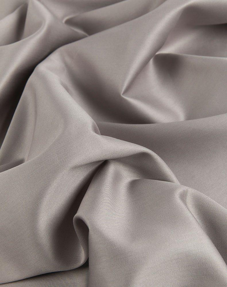 Grey Egyptian Cotton Sateen Fitted Sheet - ZigZagZurich