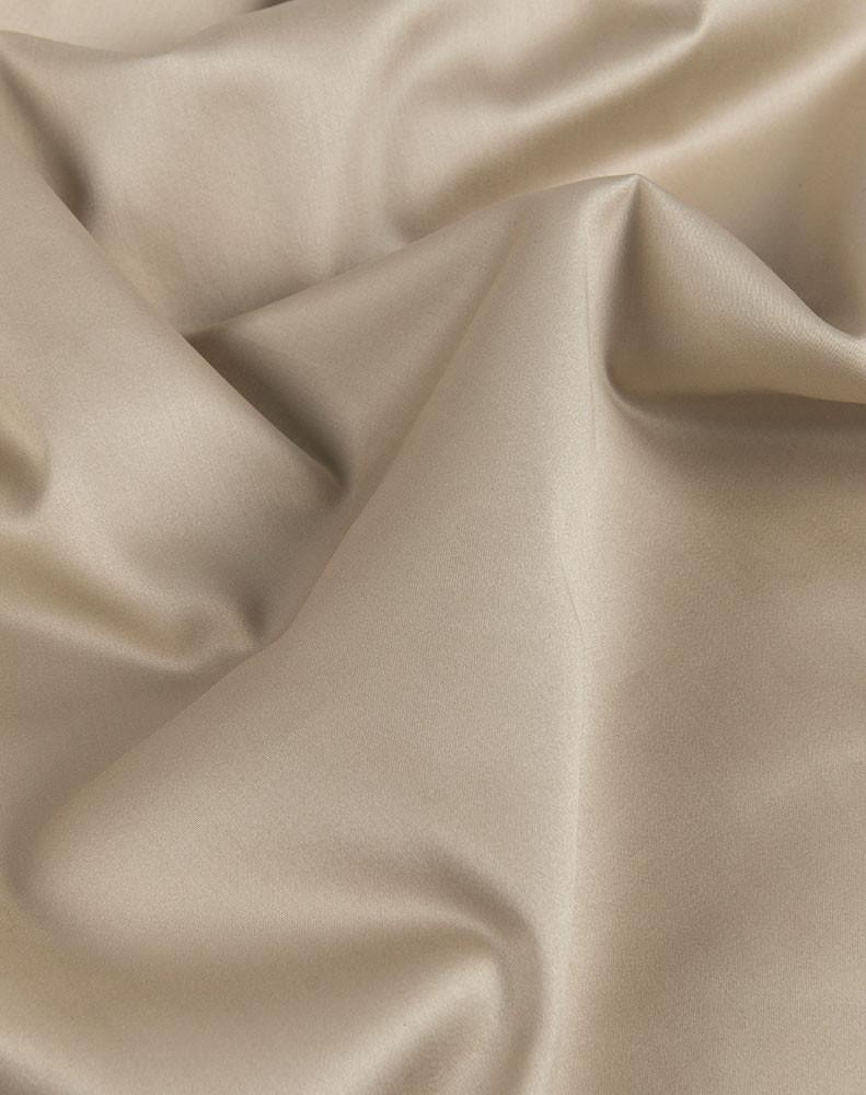 Sand Egyptian Cotton Sateen Fitted Sheet - ZigZagZurich