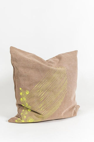 Hand Embroidered One of A Kind Pillows & Cushions - Cotton Denim