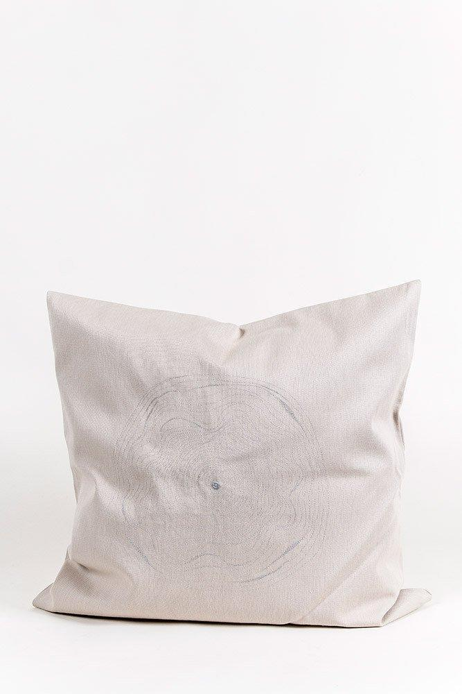 Embroidered Cushions - Hand Embroidered One Of A Kind Pillows & Cushions - Satin Cotton