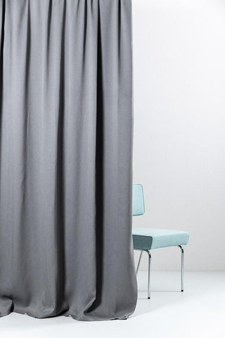 "Anthrazit Extra Wide Blackout Curtains 300cm/118"" - Matt Satin Weave (07)"