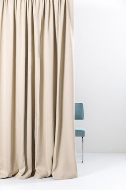 "Extra Wide Blackout Curtains - Beige Caramel Extra Wide Blackout Curtains 300cm/118"" - Matt Satin Weave (62)"