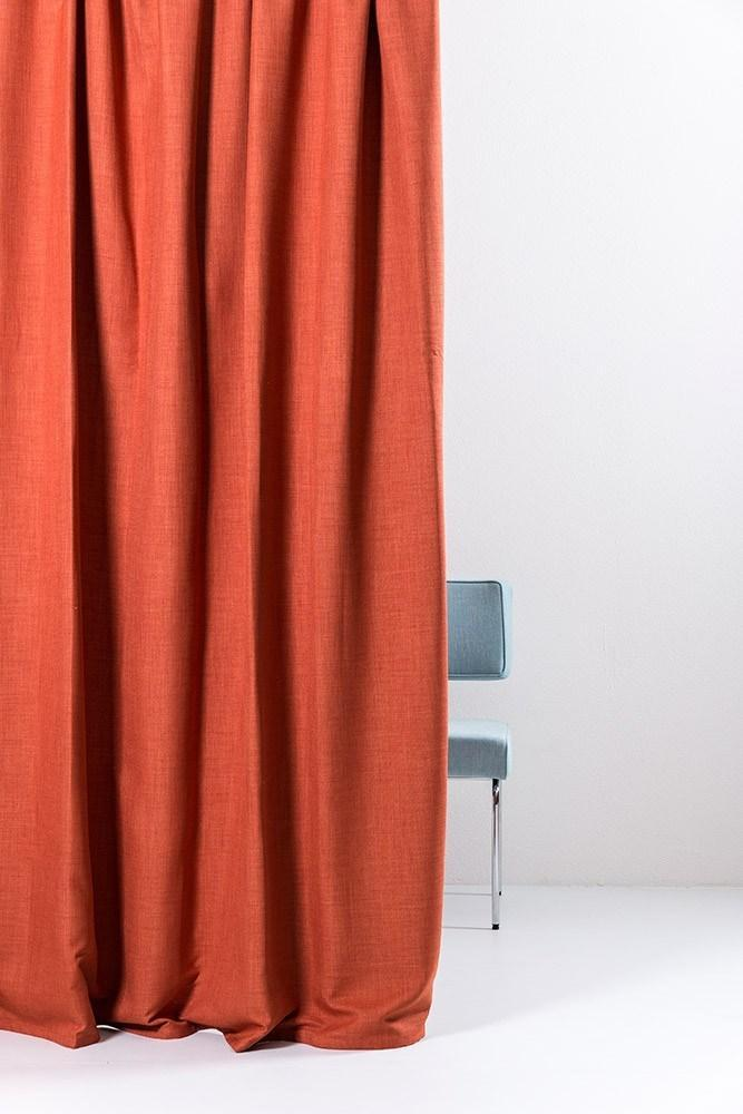 "Extra Wide Blackout Curtains - Extra Wide Blackout Curtains 300cm/118"" - Coral Linen Weave"