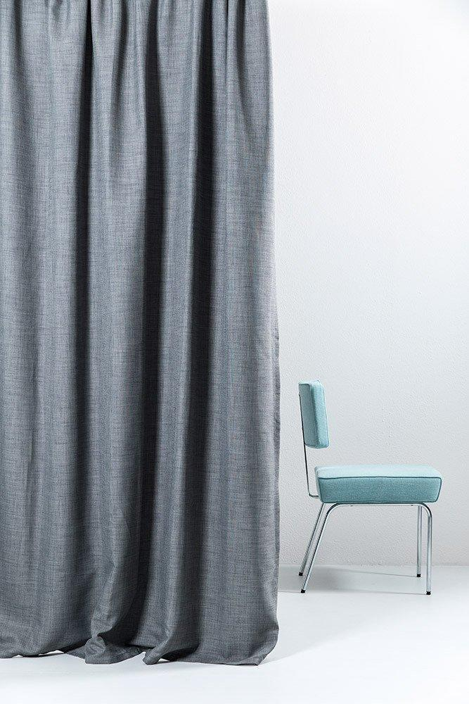 Extra Wide Blackout Curtains 300cm118 Gray Linen Weave