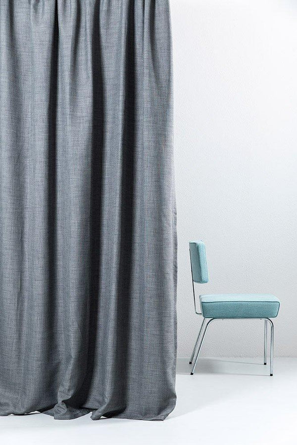 "Extra Wide Blackout Curtains - Extra Wide Blackout Curtains 300cm/118"" - Gray Linen Weave"