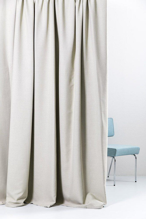"Extra Wide Blackout Curtains - Extra Wide Blackout Curtains 300cm/118"" - Sand Linen Weave"