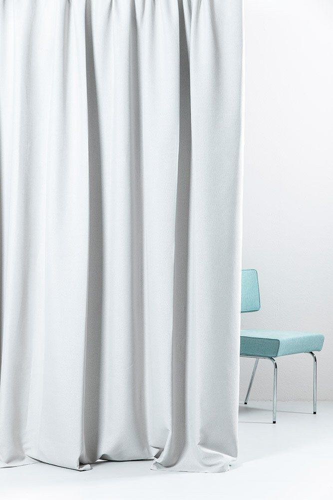 "Extra Wide Blackout Curtains - Extra Wide Blackout Curtains 300cm/118"" - Silver Linen Weave"