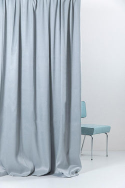 "Extra Wide Blackout Curtains - Light Blue Extra Wide Blackout Curtains 300cm/118"" - Matt Satin Weave (20)"