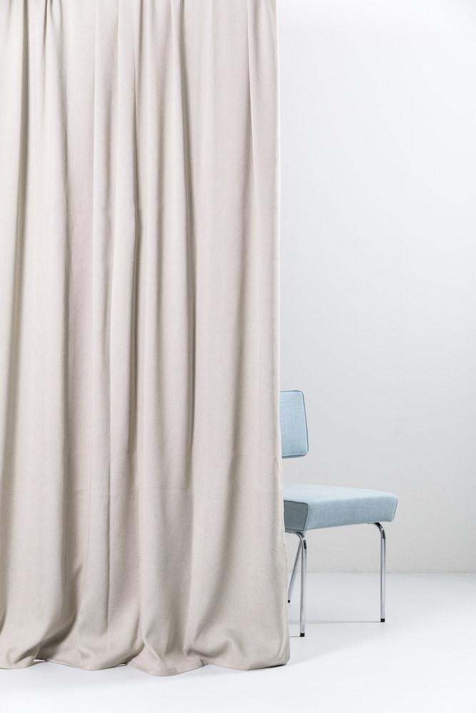 "Extra Wide Blackout Curtains - Sand Extra Wide Blackout Curtains 300cm/118"" - Matt Satin Weave (66)"