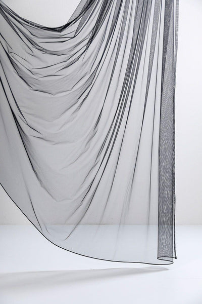 "Black Sheer Tulle Curtains 300cm / 118""Wide - ZigZagZurich  - 1"