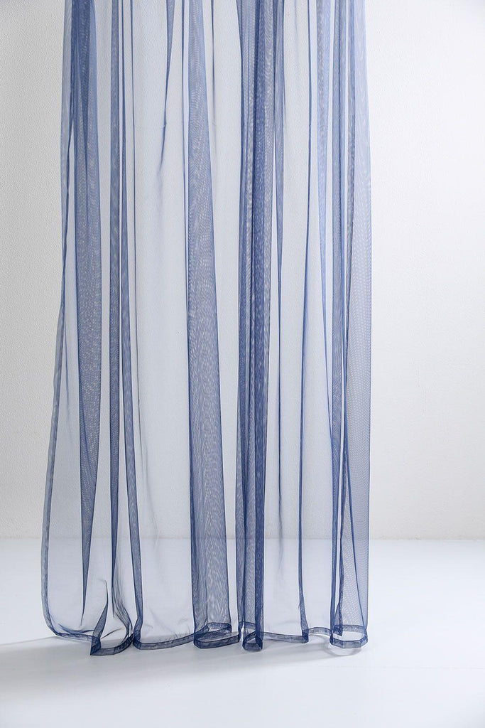 blue sheer tulle curtains 300cm 1