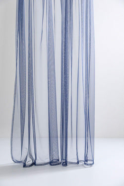 "Extra Wide Sheer Tulle Curtains - Blue Sheer Tulle Curtains 300cm /118""Wide"