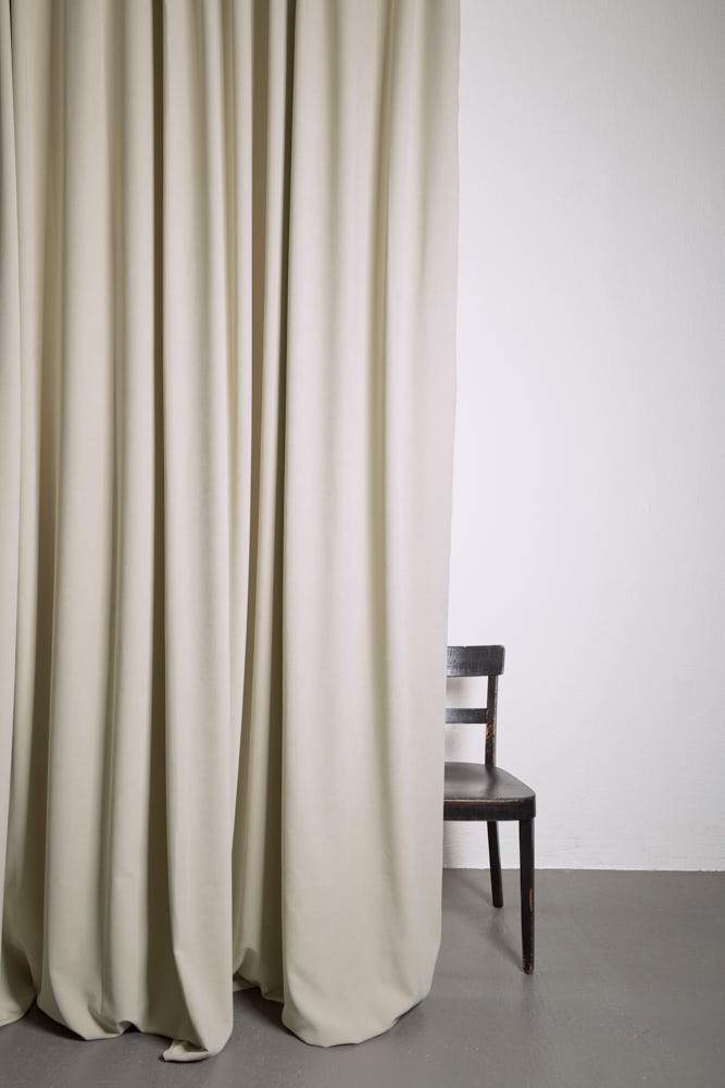 "Extra Wide Velvet Curtains - Extra Wide Matt Velvet Dim-out Curtains 300cm/118"" -  Beige 175"
