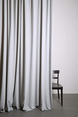 "Extra Wide Matt Velvet Dim-out Curtains 300cm/118"" -  Perla Light Grey 189"