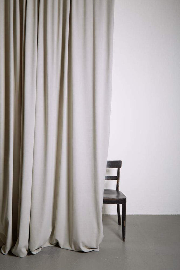 "Extra Wide Velvet Curtains - Extra Wide Matt Velvet Dim-out Curtains 300cm/118"" -  Sand 294"