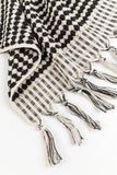 Handloom Cotton Towels - Black Handloom Turkish Towels Pom Pom