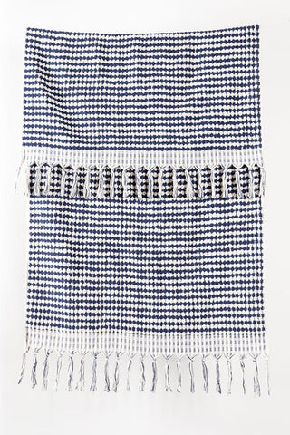 Blue Handloom Turkish Towels Pom Pom