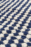 Handloom Cotton Towels - Blue Handloom Turkish Towels Pom Pom