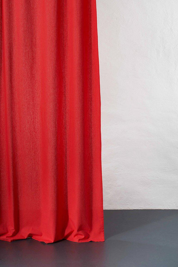 Hanfvorhaenge Hemp Curtains - Cannab Hemp And Organic Cotton Curtains - Lobster Red 08