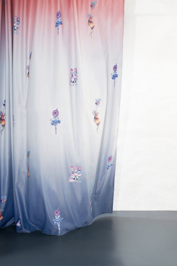 Kids Blackout Curtains - Made In Flowers Kids Blackout Curtain By Karina Eibatova - Extra Wide
