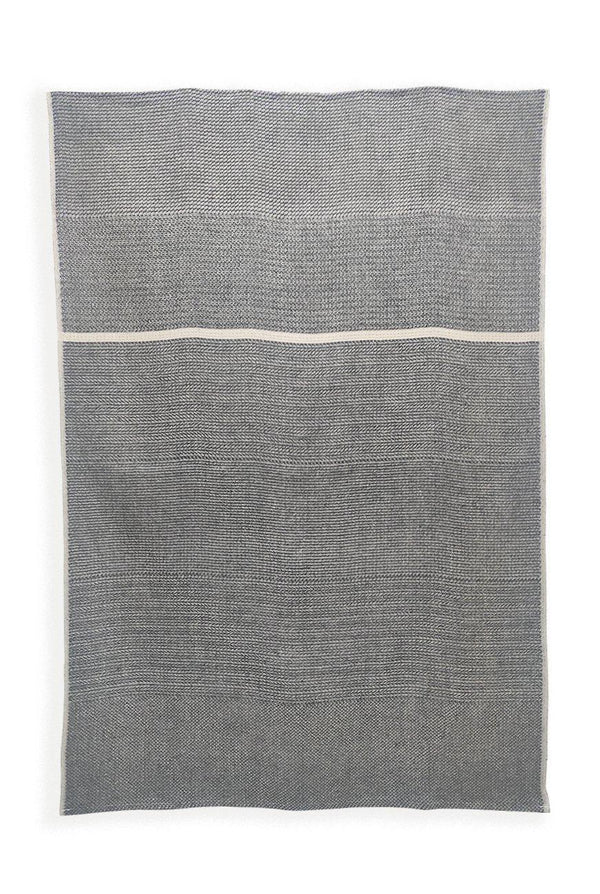 Linen Bath Towels - Yarn Dyed 100% Linen Bath Towels Col. Black & White