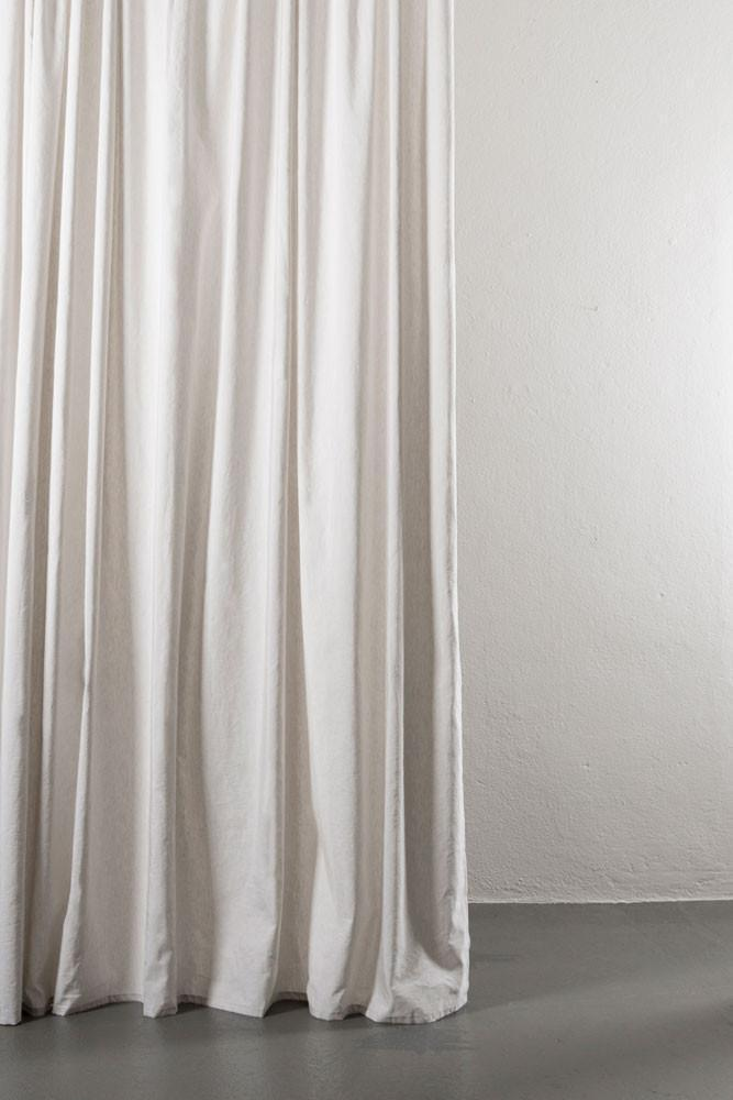 "Linen / Cotton Curtains - Azura Light Grey Cotton & Linen Curtains 300cm / 118"" Extra Wide - 005"