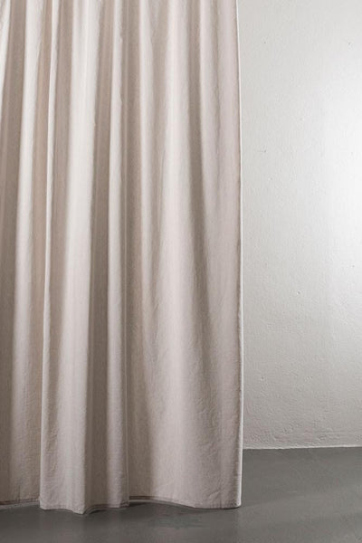"Linen / Cotton Curtains - Azura Sand Cotton & Linen Curtains 300cm / 118"" Extra Wide - 004"